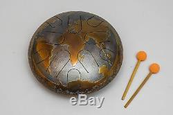 Steel Tongue Drum Planet Folk Percussion Handmade Musical Instrument Ø 340 mm