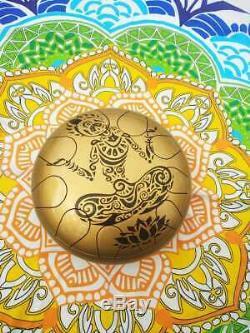 Steel Tongue Drum Trommel HandPan Drum Ethno Meditation Hand Pan Stahl LOTOS