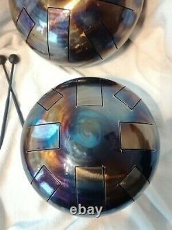 Steel Tongue Drum X2! , Hand Made, D Minor, Ready Now, Tank Drum, Hank, Hand Pan