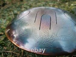 Steel Tongue Drum in 432 Hz Handpan 12 Notes Spiritual Gift Mandala Ø 330 mm