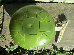 Steel Tongue Drum in Lichen Green Mist A Pentatonic Minor Scale