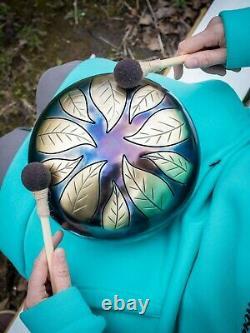 TUNABLE Handpan 9 Leaf Fall Steel Tongue Drum tank drum, steel drum
