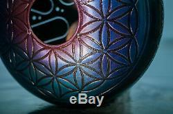 Tank drum Crystals (12'' 30 cm), happy drum, handpan steel tongue drum