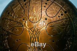 Tank drum happy drum handpan steel tongue drum hank drum Tree of Life 12'' 30 cm