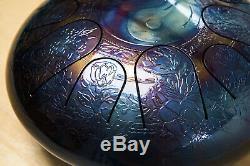 Tank drum steel tongue handpan, Am Ake Bono, 30cm ethno folk engraving yin yang