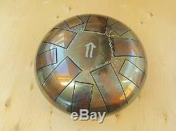 Tank drum steel tongue handpan, B minor Natural, 22cm, 10 notes ethno folk
