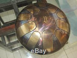 Tank drum steel tongue handpan, minor, 30cm 4 kg, 10 notes ethno folk