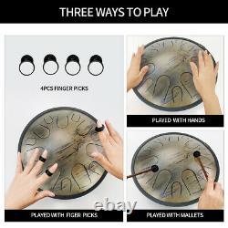 Tongue Tank Drum 14 Notes C Minor Hand Painted Nitriding Performances Handpan