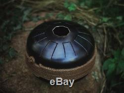 Turtle tank drum steel tongue handpan 2-SIDES 16 tones Rimba C pelog & F aeolian
