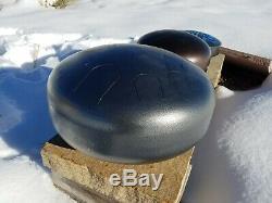 USA Made Manastone Steel Tongue Drum Japanese E Akebono Scale, Handpan Silver