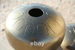 USA made Manastone Steel Tongue Drum D Big Bear Scale, handpan, hank, tankdrum