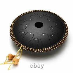Ulalov 14 Notes-14 Inch Steel Tongue Drum for Adults Percussion Steel Drums H