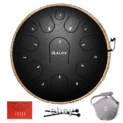 Ulalov Drum Hand-pan Steel Tongue Drum 15 Note with Padded Bag Book Women Adult