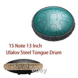 Ulalov Drum Steel Tongue Percussion Drum 13 Inch with Travel Bag Book for Women