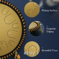 Ulalov Percussion Steel Tongue Drum 14 Note with Book Mallet Finger Pick Women