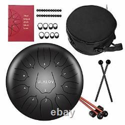 Ulalov Steel Tongue Drum-12 Inch 11 Note Handpan Drum Steel Drums Instruments
