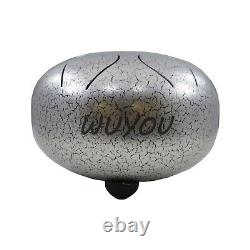 WuYou 10 Inch High-End Stainless Steel Tongue Drum Percussion Musical Drum WithBag