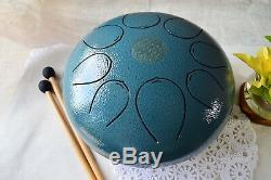 WuYou 10in Steel Tongue Pentatonic Drum Handpan Drum Tank with carry bag & mallets