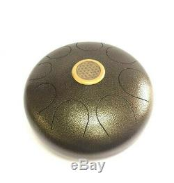 WuYou 14 Inch 8 Note Steel Tongue Drum Handpan Best Sound Therapy Drum WithMallets