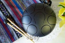 WuYou 6 Christmas Mini Steel Tongue Drum/Tank Drum Handpan Healing drum, Black