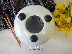 WuYou 8 19cm Steel Tongue Drum Handpan Tank, E Note, Free Bag+ 2mallets, White
