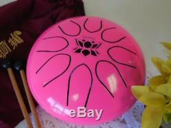 WuYou 8 UFO Steel tongue drum, Lotus symbol drum, Handpan, FREE Mallets & bag