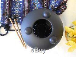 WuYou Fine Hand tuned 8inch 19cm Steel Tongue Drum, Handpan, Chakra Drum, E tune