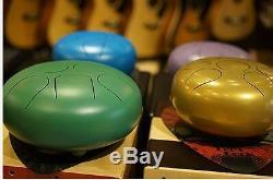 Wuyou 10 Large Steel Tongue Drum/Tank Drum FREE Bag & 2sticks, Purple